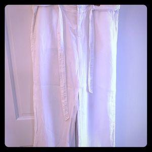 White Linen Pants Size 6